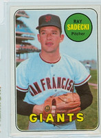1969 Topps Baseball 125 Ray Sadecki San Francisco Giants Near-Mint Plus