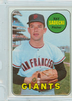 1969 Topps Baseball 125 Ray Sadecki San Francisco Giants Near-Mint to Mint