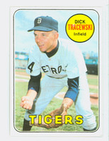 1969 Topps Baseball 126 Dick Tracewski Detroit Tigers Near-Mint to Mint