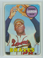 1969 Topps Baseball 128 Tommie Aaron Atlanta Braves Near-Mint to Mint