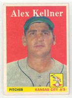 1958 Topps Baseball 3 Alex Kellner Kansas City Athletics Excellent to Mint