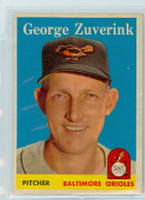1958 Topps Baseball 6 George Zuverink Baltimore Orioles Near-Mint