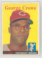 1958 Topps Baseball 12 George Crowe Cincinnati Reds Excellent to Mint