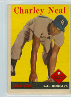 1958 Topps Baseball 16 Charley Neal Los Angeles Dodgers Very Good to Excellent