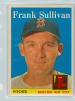 1958 Topps Baseball 18 Frank Sullivan Boston Red Sox Excellent to Excellent Plus