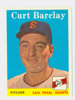 1958 Topps Baseball 21 Curt Barclay San Francisco Giants Near-Mint