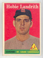 1958 Topps Baseball 24 b Hobie Landrith St. Louis Cardinals Excellent to Mint
