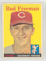 1958 Topps Baseball 27 Bud Freeman Cincinnati Reds Excellent to Mint