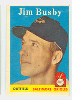 1958 Topps Baseball 28 Jim Busby Baltimore Orioles Very Good to Excellent
