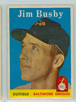 1958 Topps Baseball 28 Jim Busby Baltimore Orioles Excellent