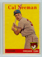 1958 Topps Baseball 33 b Cal Neeman Chicago Cubs Excellent