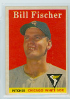 1958 Topps Baseball 56 Bill Fischer Chicago White Sox Excellent