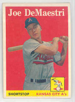 1958 Topps Baseball 62 Joe DeMaestri Kansas City Athletics Excellent to Mint