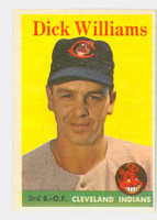 1958 Topps Baseball 79 b Dick Williams Cleveland Indians Very Good to Excellent