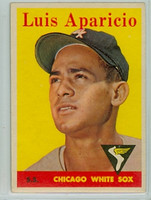 1958 Topps Baseball 85 Luis Aparicio Yellow Letters  Chicago White Sox Very Good to Excellent