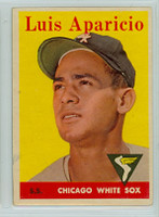 1958 Topps Baseball 85 b Luis Aparicio Chicago White Sox Very Good