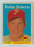 1958 Topps Baseball 90 Robin Roberts Philadelphia Phillies Excellent