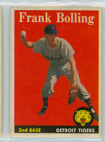 1958 Topps Baseball 95 Frank Bolling Detroit Tigers Excellent