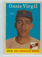 1958 Topps Baseball 107 Ossie Virgil San Francisco Giants Very Good to Excellent