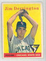 1958 Topps Baseball 129 Jim Derrington Chicago White Sox Excellent to Mint