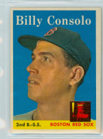 1958 Topps Baseball 148 Billy Consolo Boston Red Sox Excellent to Excellent Plus