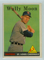 1958 Topps Baseball 210 Wally Moon St. Louis Cardinals Excellent