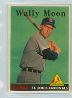 1958 Topps Baseball 210 Wally Moon St. Louis Cardinals Excellent to Mint