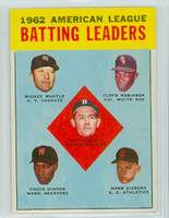 1963 Topps Baseball 2 AL Batting Leaders Near-Mint
