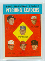 1963 Topps Baseball 7 NL Pitching Leaders Near-Mint