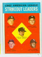 1963 Topps Baseball 10 AL Strikeout Leaders Near-Mint