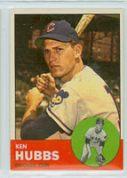 1963 Topps Baseball 15 Ken Hubbs Chicago Cubs Near-Mint
