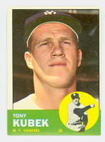 1963 Topps Baseball 20 Tony Kubek New York Yankees Excellent to Excellent Plus