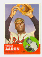 1963 Topps Baseball 46 Tommy Aaron Milwaukee Braves Excellent to Mint