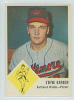 1963 Fleer Baseball 1 Steve Barber Baltimore Orioles Near-Mint