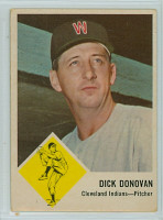 1963 Fleer Baseball 11 Dick Donovan Cleveland Indians Very Good