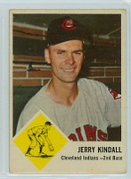 1963 Fleer Baseball 13 Jerry Kindall Cleveland Indians Good to Very Good