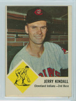 1963 Fleer Baseball 13 Jerry Kindall Cleveland Indians Very Good