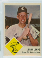 1963 Fleer Baseball 16 Jerry Lumpe Kansas City Athletics Excellent to Excellent Plus