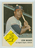 1963 Fleer Baseball 21 Leon Wagner Los Angeles Angels Near-Mint Plus