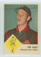 1963 Fleer Baseball 22 Jim Kaat Minnesota Twins Excellent to Mint