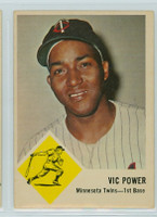 1963 Fleer Baseball 23 Vic Power Minnesota Twins Very Good