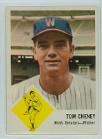 1963 Fleer Baseball 27 Tom Cheney Washington Senators Excellent to Mint