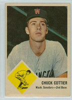 1963 Fleer Baseball 28 Chuck Cottier Washington Senators Good to Very Good