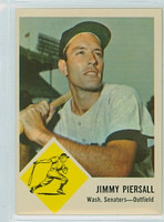 1963 Fleer Baseball 29 Jimmy Piersall Washington Senators Excellent to Mint