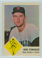 1963 Fleer Baseball 30 Dave Stenhouse Washington Senators Excellent to Excellent Plus