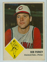 1963 Fleer Baseball 35 Bob Purkey Cincinnati Reds Good to Very Good