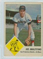 1963 Fleer Baseball 36 Joe Amalfitano Houston Colts Good to Very Good