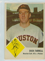 1963 Fleer Baseball 38 Dick Farrell Houston Colts Very Good