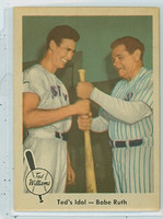 1959 Fleer Ted Williams 2 Ted with Babe Ruth Near-Mint