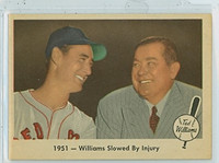 1959 Fleer Ted Williams 42 Slowed by Injury Near-Mint